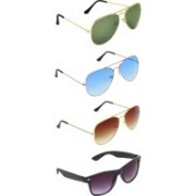 Zyaden Aviator, Aviator, Aviator, Wayfarer Sunglasses(Green, Blue, Brown, Black)