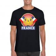 Shoppartners Zwart Frankrijk supporter kampioen shirt heren