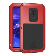 LOVE MEI Dust-proof Shock-proof Splash-proof Powerful Metal + Silicone Defender Case for Huawei Mate 20 Lite / Maimang 7 - Red