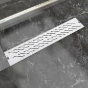 vidaXL Rigolă duș liniară, model ondulat, oțel inoxidabil, 630x140 mm
