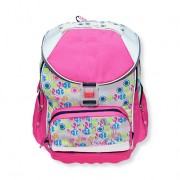 Ghiozdan pentru scoala, roz-gri, 36x27x17 cm