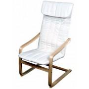 Relax fotel, fehér, mosható huzattal, rétegelt nyír vázzal