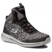 Sportcipő SKECHERS - Fashion Forward 12655/BKSL Black/Silver