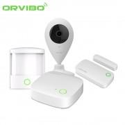 Kit sistem de securitate Orvibo 5 in 1, Mini Hub protocol ZigBee, Senzori Usa, PIR, Camera Video - model 2017