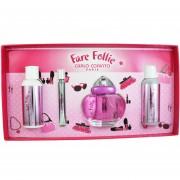Set Fare Follie 4Pzs 100 Ml Edt Spray + Shower Gel 120 Ml + Body Lotion 120 Ml + Body Oil 10 Ml De Carlo Corinto