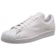 Adidas Superstar 80s Clean-AQ1022 Zapatillas para Hombre, Footwear White/Gold Metallic, 4.5