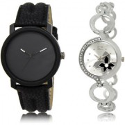 The Shopoholic Black Silver Combo Stylist Designer Combo Pack 2 Black And Silver Dial Analog Watch For Boys And Girls Mens Watches Stylish