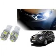Auto Addict Car T10 5 SMD Headlight LED Bulb for Headlights Parking Light Number Plate Light Indicator Light For Chevrolet UVA