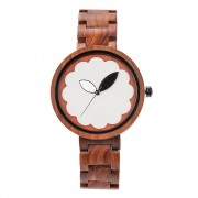 Bewell Ladies Classic Red Wood Watch