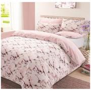 Dreamscene Marble Duvet Set - Pink - King