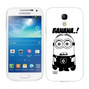 Husa Samsung Galaxy S4 Mini i9190 i9195 Silicon Gel Tpu Model Minion Banana B&W
