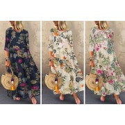 Guangzhou Zhangmafushi Co.,Ltd t/a Wish-Imports £11.99 instead of £39.99 (from Wish-Imports) for a women's floral sleeved maxi dress - save 70%