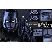 Hot Toys Movie Master Piece Sixth Scale Figure : Batman vs Superman Dawn of Justice - Armored Batman Black Chrome Version