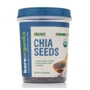 BareOrganics CHIA SEEDS (Raw-Organic) (16oz) 454g