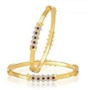 VK Jewels Gold Plated Bangles- BG1063G [VKBG1063G]