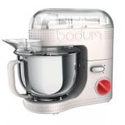 Bodum BISTRO Robot de cuisine électrique, 700 W, bol inox 4.7 l Blanc crème