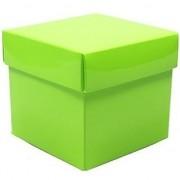 Geen Groen cadeaudoosje 10 cm vierkant
