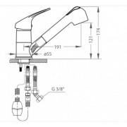 Baterie de bucatarie compozit Alveus AM 20, A51 Beige