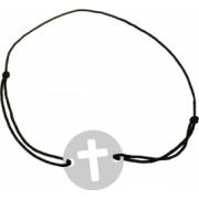 Bratara Cruciulita pandantiv Argint 925 snur negru unisex Artemis Gift