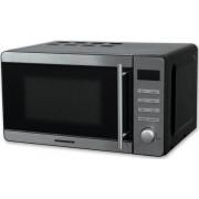 Cuptor cu microunde Heinner HMW-20DBKSS, 20 L, 700W, Grill: 800 W, Control digital, 5 nivele de putere (Argintiu)