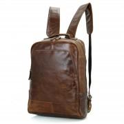 Delton Bags Sac à dos en cuir marron vintage marron