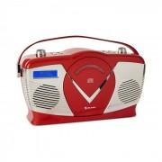Auna RCD-70 DAB Retro CD-Radio FM DAB+ Reproductor CD USB Bluetooth Rojo