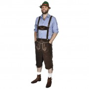 vidaXL Баварски панталон ледерхозен с шапка за Октоберфест, размер ХL