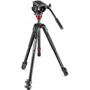 Manfrotto Aluminium-Dreibeinstativ MVH500AH,190X Alu Video Kit