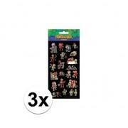 Merkloos 3x Kinder stickers The Freggels