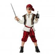 Geen Feest piraten kleding rood/zwart voor jongens