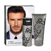 David Beckham Homme Gift Set: Deospray 150ml+SG 200ml