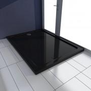 vidaXL fekete téglalap alakú ABS zuhanytálca 80 x 110 cm