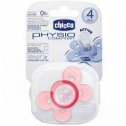 Бебешка силиконова залъгалка за момиче - Comfort, 4+ с кутийка, 072321