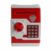 Money Safe Kids Piggy Savings Bank with Electronic Lock (Red White)