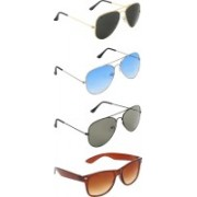 Zyaden Aviator, Aviator, Aviator, Wayfarer Sunglasses(Black, Blue, Green, Brown)