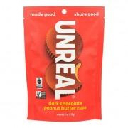 Unreal Cups - Dark Chocolate Peanut Butter - Case of 6 - 4 oz.