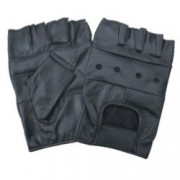 DBE Fingerless Leather Half Gloves DBE3000