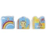 Set 3 carti de baie pentru bebelusi Girafa Sophie Vulli