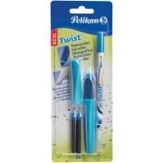 Roller Twist Pelikan albastru cu 2 rezerve si pic corector