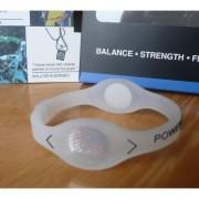 Balanční náramek s hologramem Power Balance - průhledný-černý