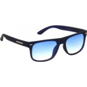 Air Strike Wayfarer Sunglasses(Blue, Clear)