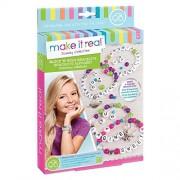 Make It Real Block n Rock Bracelets. DIY Alphabet Letter Beads & Charms Bracelet Making Kit for Girls. Arts and Crafts Kit to Design and Create Unique Tween Bracelets with Letters, Beads & Charms