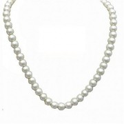IGL Lab Certified Natural Pearl Beads Mala For Astrological Purpuse By Jaipur Gemstone