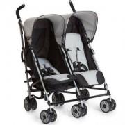 Детска комбинирана количка за близнаци - Turbo Duo Caviar Stone, Hauck, 139042