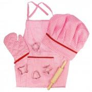 Set sortulet si accesorii roz, 8 piese, lungime sort 56 cm, 3 ani+