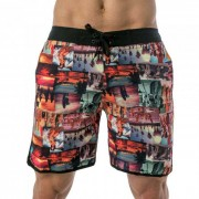 Lord Tropical Collage Boardshorts Beachwear Red MA006