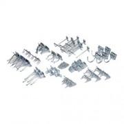 LocHook Triton Products LH1-KIT Surtido de 46 Ganchos de Acero galvanizado para clóset