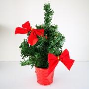 Mini karácsonyfa dekoráció piros 25 cm
