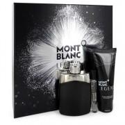 Mont Blanc Legend Eau De Parfum Spray 3.3 oz / 97.59 mL + Mini EDP Spray 0.25 oz / 7.40 mL + After Shave Balm 3.3 oz / 97.59 mL