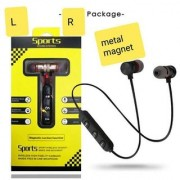 Wireless Bluetooth Earphone Headset Headphone With Magnet lock Type For All SONY SAMSUNG OPPO REALME Mobiles RED Colour